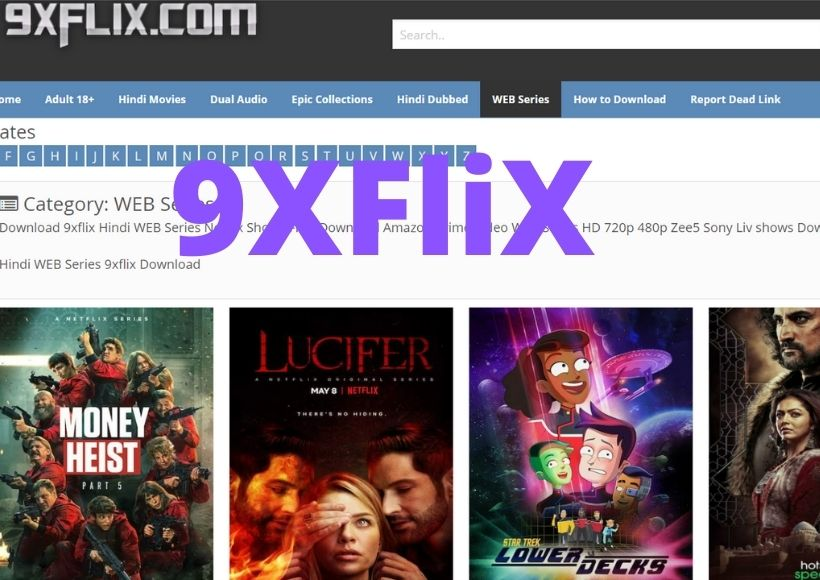 9xflix 300 MB Dual Audio Movies download Website  Bollywood, Hollywood Dubbed Movies